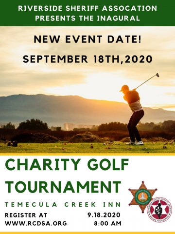 RCDSA Golf Tournament Postponed To September 18th!